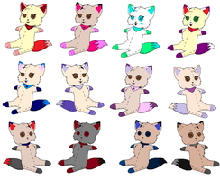 My friends as plushie's! by KittyLove1998