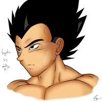 Vegeta in my style by wLadyB91