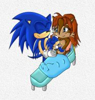 Sonic, Sally, and their son by footman