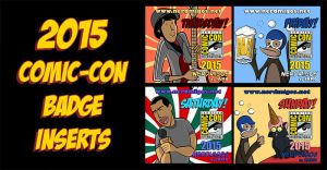 Nerdmigos Print N' Play Comic-Con 2015 Badge Set by IAMO76