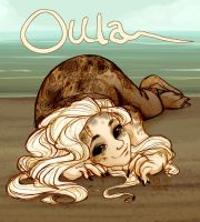 Oula on beach by StressedJenny