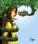 Jane and Kaa Coloured by Lizzidoll