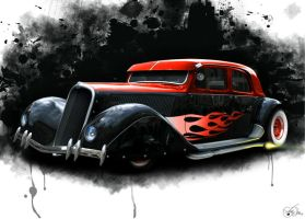 Citroen Hot Rod by LadyDeuce