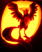 Articuno on a Pumpkin by johwee