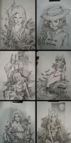 Convention Sketches   Comic Action 2014 by CottonyHotchkiss