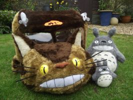 Catbus Cat Bed - from Totoro 2 by RachelBrownoid