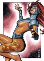 Jean Grey - X-Men Sketch Card by J-Redd