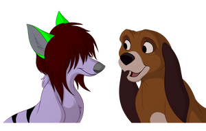 Zee and Copper - Commission by kohu-scribbles