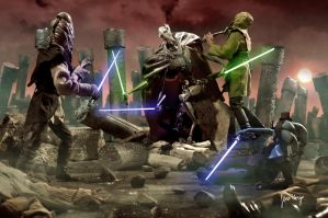 Grievous battle scene by amidalazelda
