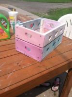 Wood Painted and distressed Crate by Jessi2012
