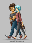 DBZ - College AU - Introductions (First Design) by RedViolett