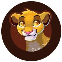 Simba Button by OrcaOwl