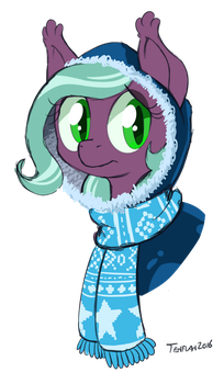 Smol Confused Snowbat Filly by tehflah