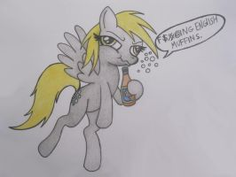 Drunk Derpy by spectrum-sparkle