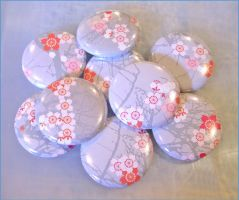 Cherry Blossom Badges by restlesswillow
