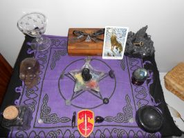Hekate's New Altar by forest-kitsune