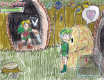 Link Looks at LikeLike Lovin' a Leaf Lady by PuffyTopianMan