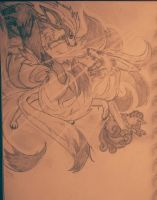 NB #5: Ninetails the Protector by SunsetFlareX
