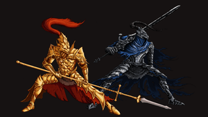 Dark Souls: Ornstein and Artorias by MenasLG