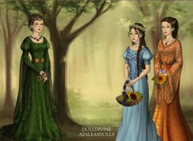 Regina and her daughters by abehs