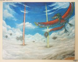 Skyward Sword canvas painting by lazyperson202