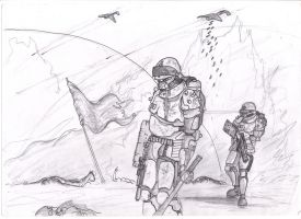 War goes on Fineliner by savagehenry89