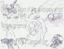 Gears of War wallpaper WiP by NM8R-KJC