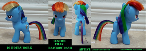 Custom Filly Rainbow Dash by janiceghosthunter