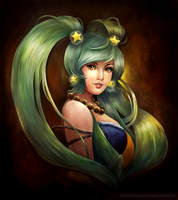 Sona from League of Legends by AlineMendes