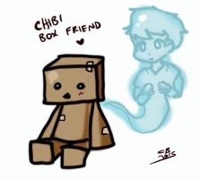 Chibi cardboard friend by CopperFirecracker