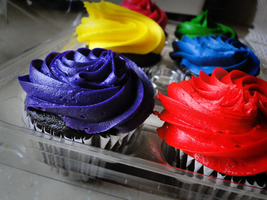 Colorful Cupcakes by Psijay