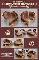 Steampunk Tentacle Fake-Gauges 001 by Dabstar