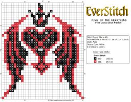 King Of the Heartless Free Cross Stitch Pattern by EverStitch