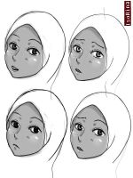 Face expression practice by IsoRina