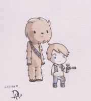 Han and Chewie by MarbleSoda
