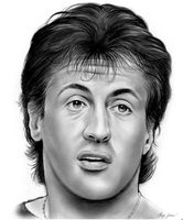 Sylvester Stallone by gregchapin