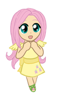 My Little Chibi Fluttershy by CardcaptorKatara