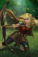 How to train your dragon 2 Astrid as an archer by Zerox-II