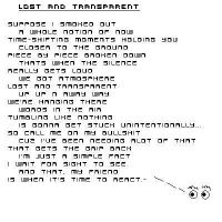 lost and transparent by DavidAtwell