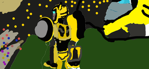 Bumblebee staring at the night sky by Speedygal