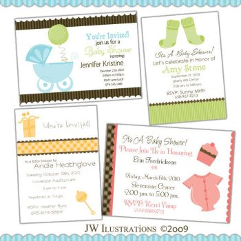 Baby Shower Invites by jdDoodles