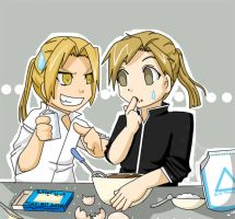 cooking with the elrics by kumii
