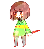 chara [undertale] by kyashee
