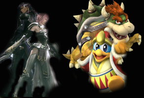 lightning and Caius vs Bowser and King Dedede by dordor2wmxixhctpsym