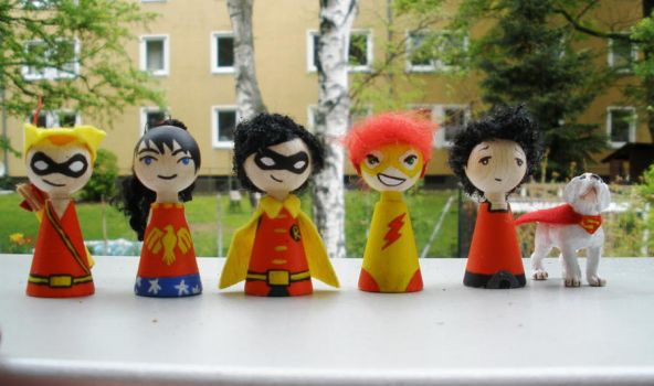 Cones: Teen Titans - Year One (and Krypto) by Poison-Harley