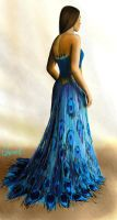 Yule Ball - Hermione's Dress (Back) by Catherine-PL