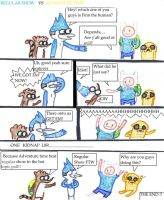 Regular show vs Adventure Time by G-Dragon9787