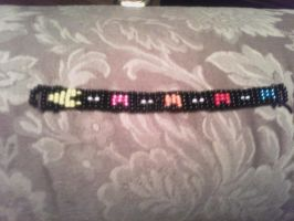 pac-man beaded bracelet by miblover334