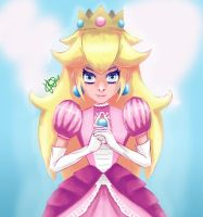 Princess Peach by heather-may