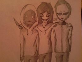 Masky,Hoody and Jeff by Carolyan